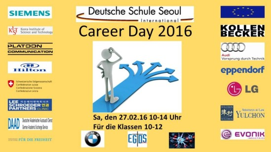 Hintergrundfolie career day 2016