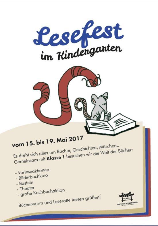 Lesefest Vom 15 Bis 19 Mai Im Kindergarten Deutsche